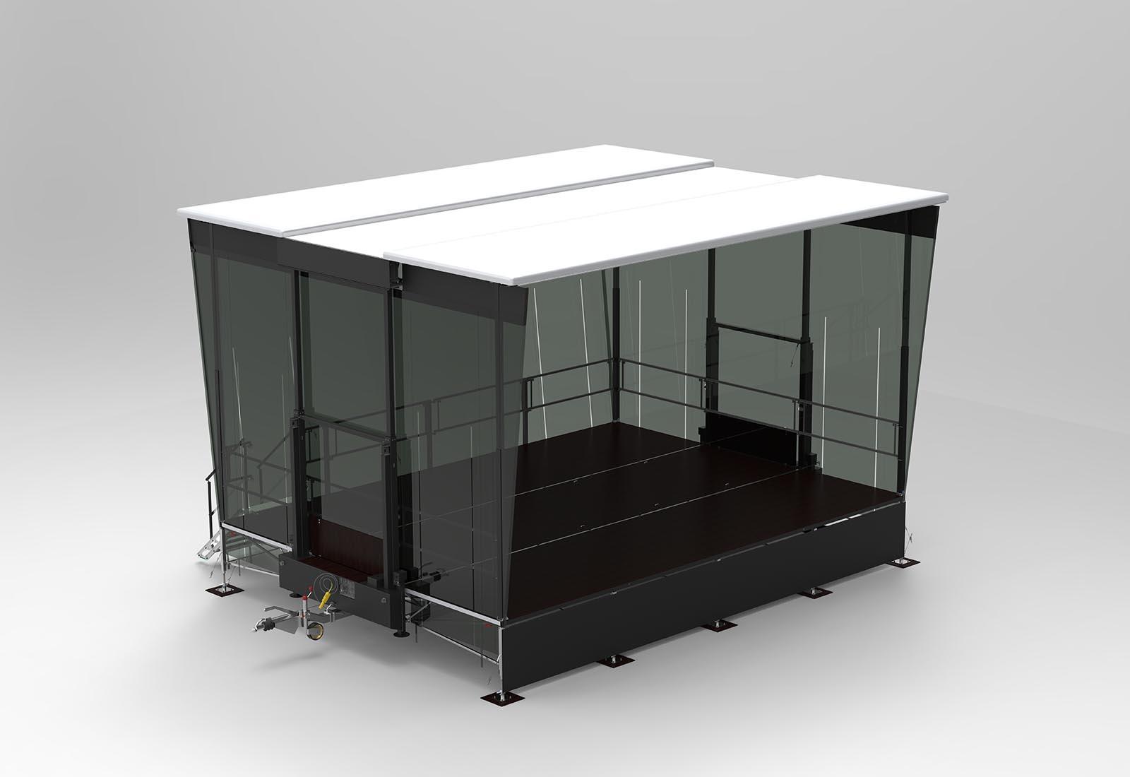 Trailerbühne 8 x 6 m